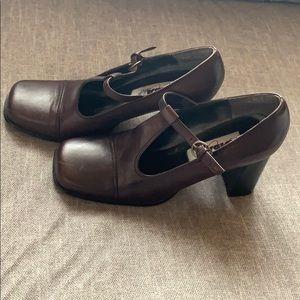 Diba Chunky Heels Brown (Size 8)